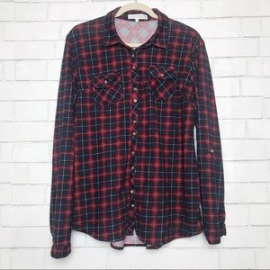 Anthropologie Eden and Olivia Flannel Top